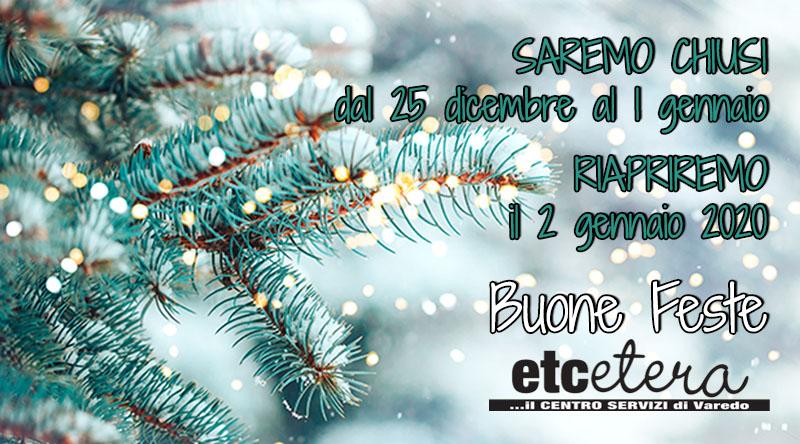 Etcetera Chiusura Natale 2019